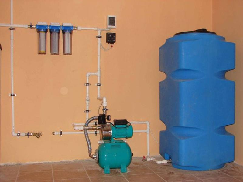 Водопровод частного дома с насосной станцией своими руками