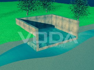 Понижение уровня воды в сооружении